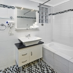 Single Hotel Room Bathroom